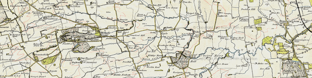 Old map of West Thorn in 1901-1903