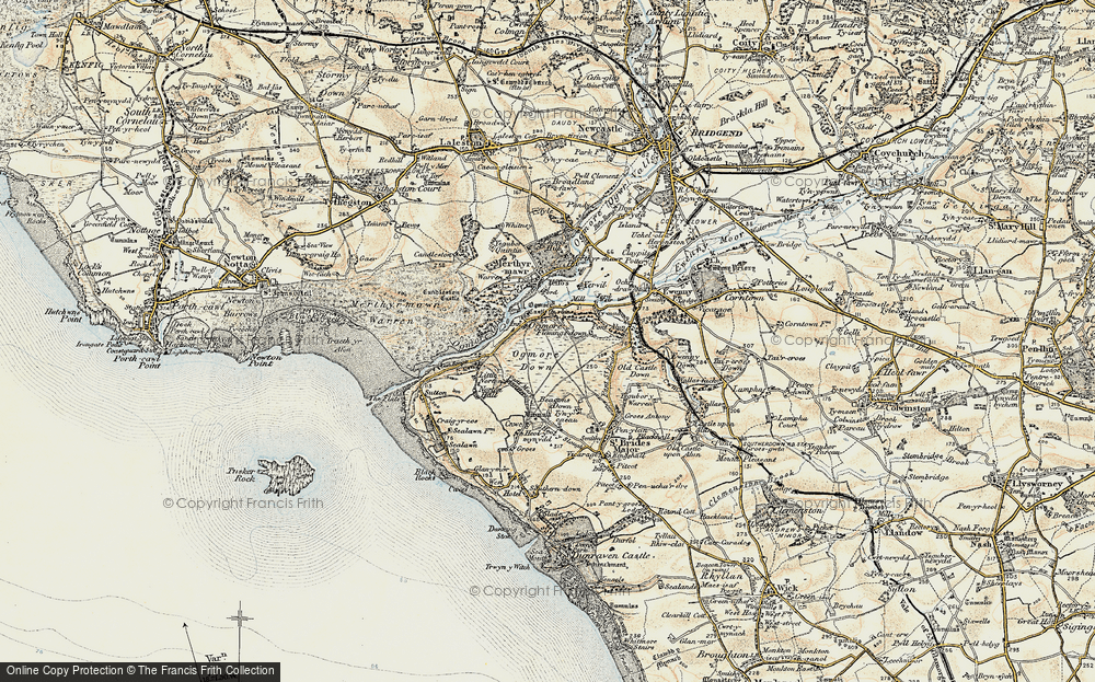 Old Map of Ogmore, 1900-1901 in 1900-1901