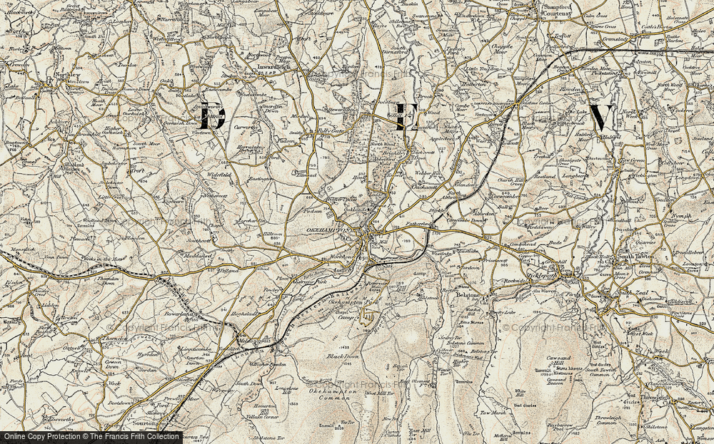 Old Map of Historic Map covering Woodclose in 1899-1900