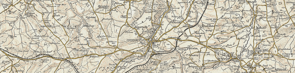 Old map of Woodclose in 1899-1900