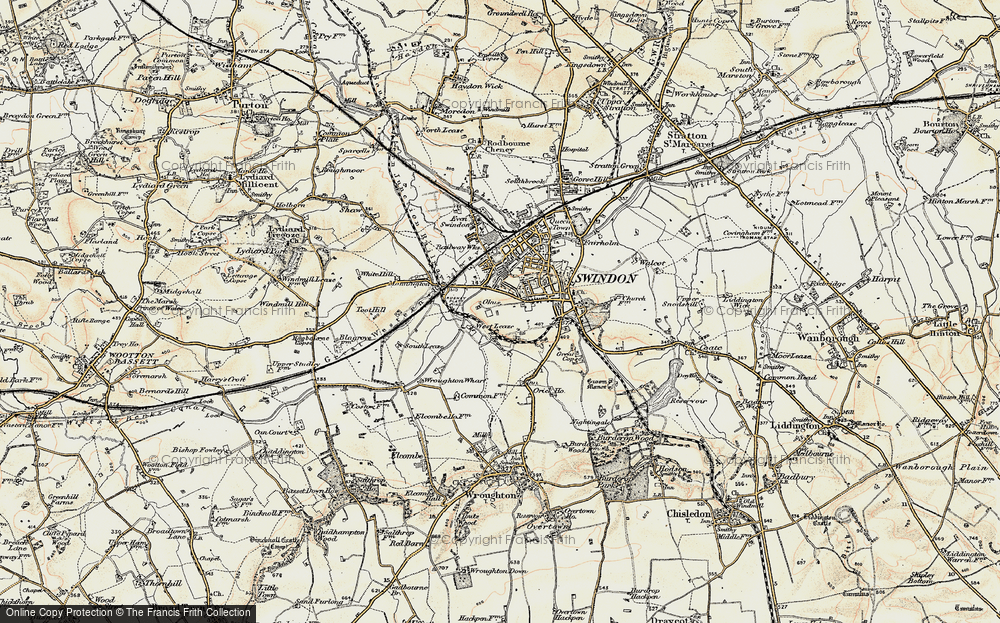 Old Map of Historic Map covering Westleaze in 1897-1899