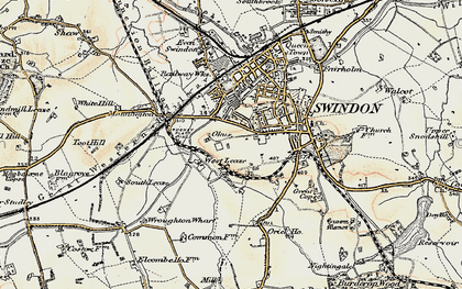 Old map of Westleaze in 1897-1899