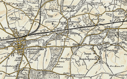 Old map of Old Basing in 1897-1900