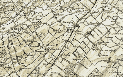 Old map of Ancrum Craig in 1901-1904