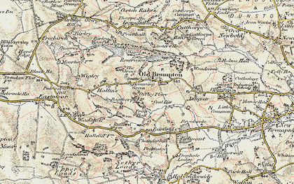 Old map of Linacre Resrs in 1902-1903