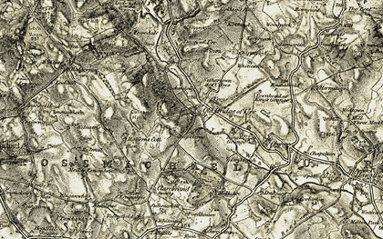 Old map of Auchendolly in 1904-1905