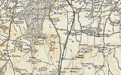 Old map of Old Burghclere in 1897-1900