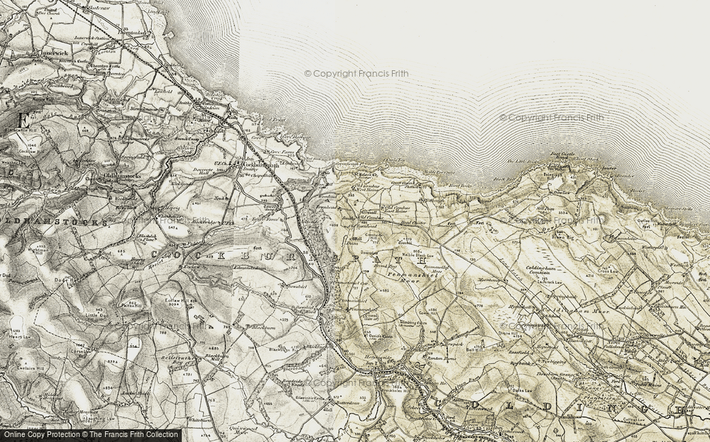 Old Map of Historic Map covering Woodend in 1901-1903