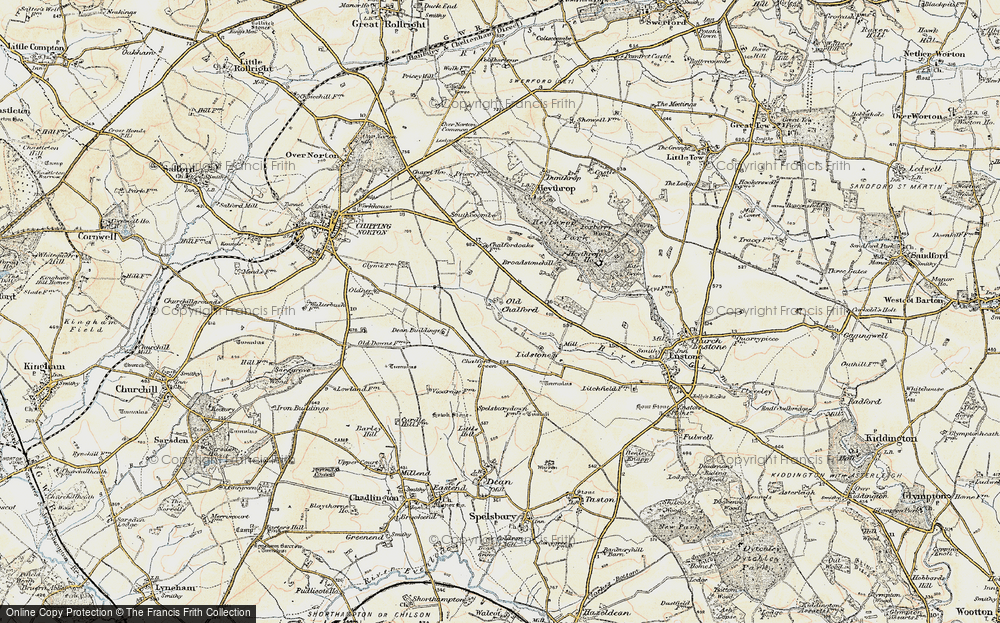 Old Map of Old Chalford, 1898-1899 in 1898-1899