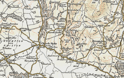 Old map of Todleth Hill in 1902-1903