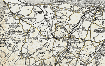 Old map of Old Cleeve in 1898-1900