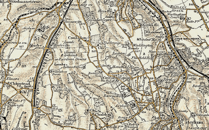 Old map of Old Coulsdon in 1897-1902