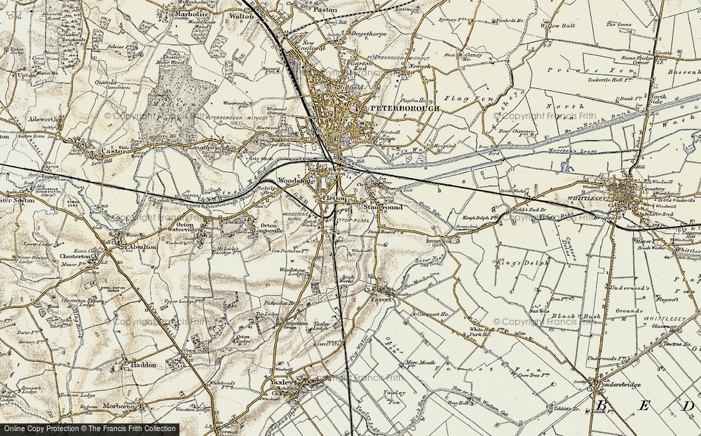 Old Map of Old Fletton, 1901-1902 in 1901-1902