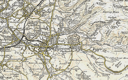 Old map of Yellow Slacks in 1903