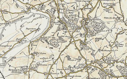 Old map of Yatton Wood in 1899-1900