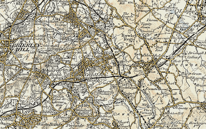 Old map of Old Hill in 1902