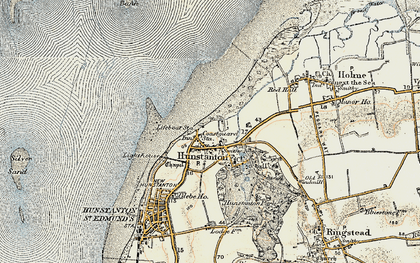 Old map of Old Hunstanton in 1901-1902