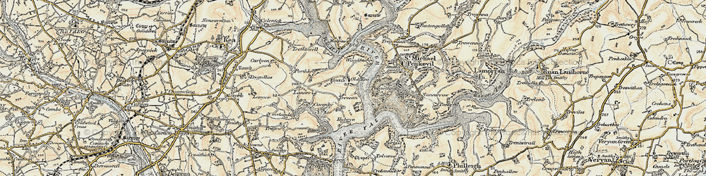 Old map of Tolvern Cott in 1900