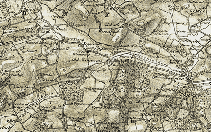 Old map of Banteith in 1909