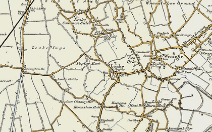 Old map of Leverton Ings in 1901-1902