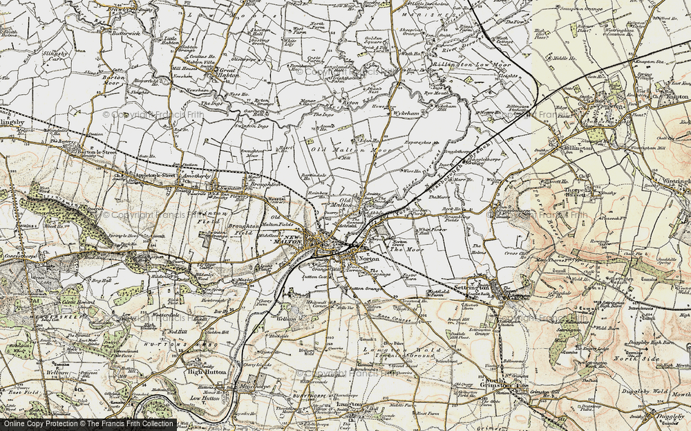 Old Map of Historic Map covering Abbey Ho, The in 1903-1904