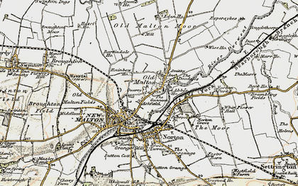 Old map of Abbey Ho, The in 1903-1904