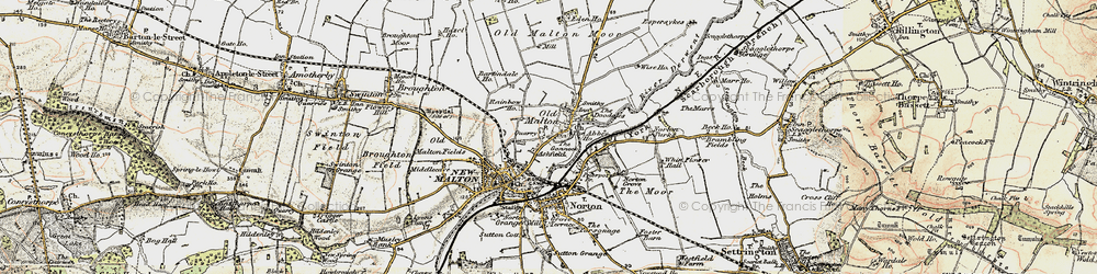 Old map of Old Malton in 1903-1904