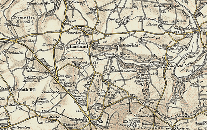 Old map of Old Mill in 1899-1900
