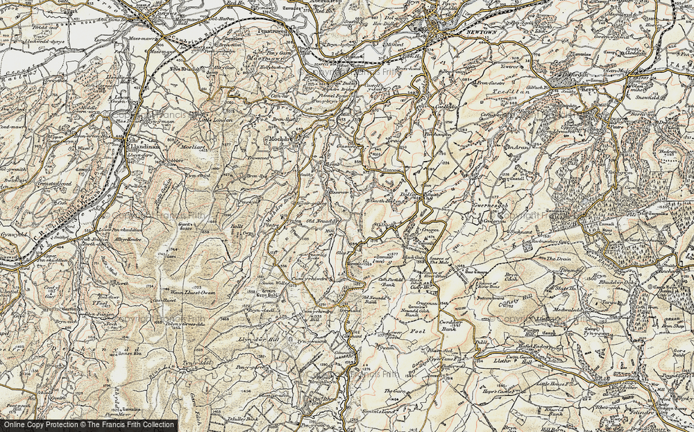 Old Map of Historic Map covering Banc Cefnperfedd in 1902-1903
