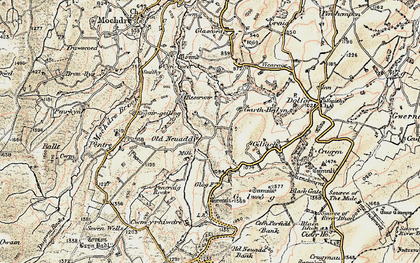 Old map of Banc Cefnperfedd in 1902-1903