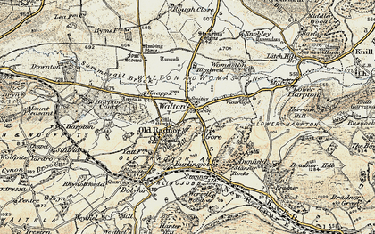 Old map of Old Radnor in 1900-1903