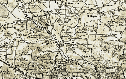 Old map of Westerton of New Rayne in 1908-1910
