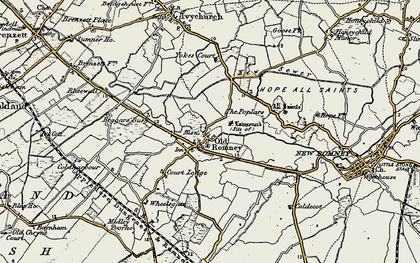 Old map of Wheelsgate in 1898