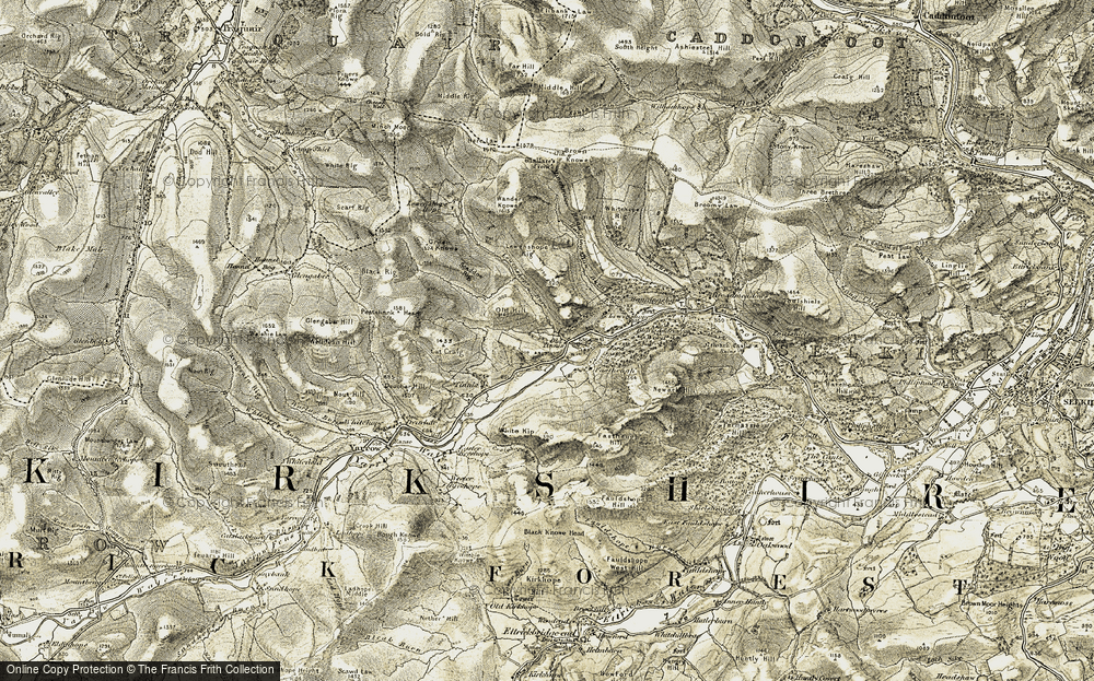Old Map of Historic Map covering Lewenshope Hope in 1904