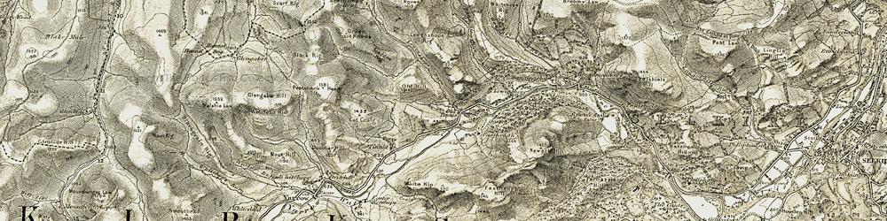 Old map of Lewenshope Hope in 1904