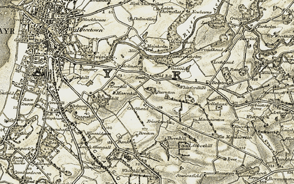 Old map of Abbothill in 1904-1906