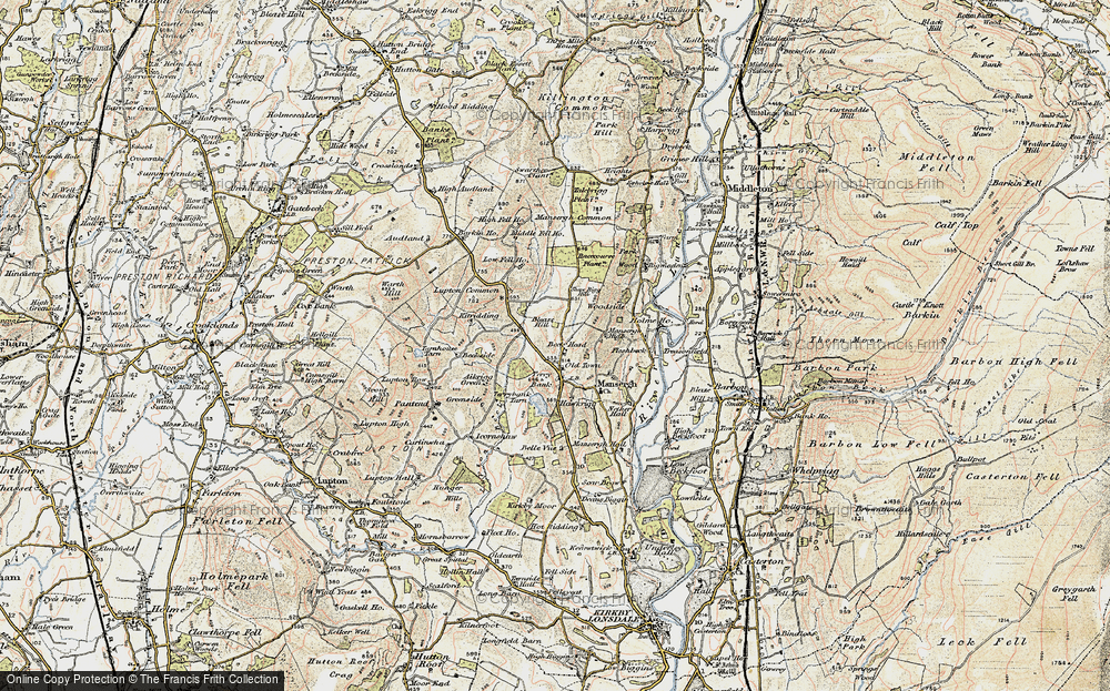 Old Map of Historic Map covering Barkin Ho in 1903-1904