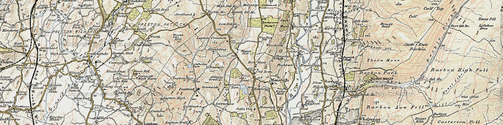 Old map of Wyndhammere in 1903-1904