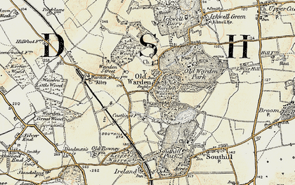 Old map of Old Warden in 1898-1901