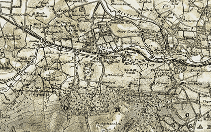 Old map of Westhall in 1908-1910