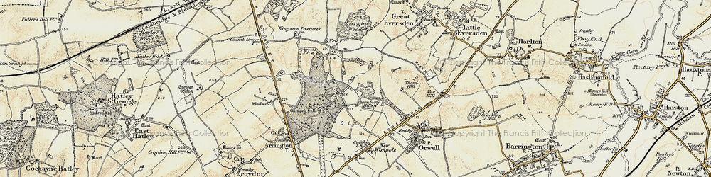 Old map of Wimpole Way in 1899-1901