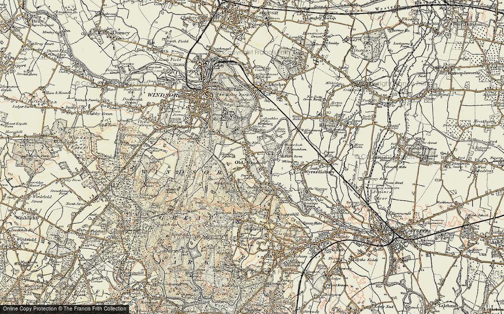 Old Map of Historic Map covering Albert Br in 1897-1909