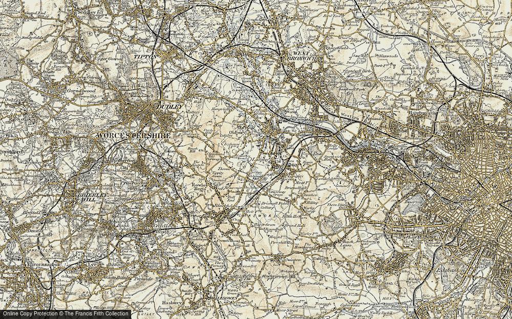 Old Map of Oldbury, 1902 in 1902