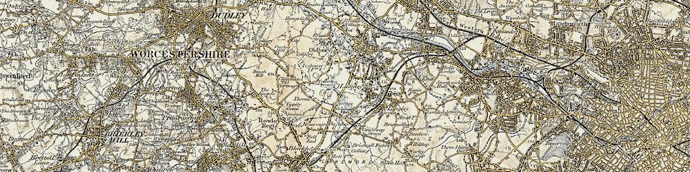 Old map of Oldbury in 1902