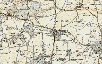 Old map of Whitewater Common in 1903