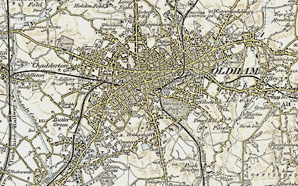 Old map of Oldham in 1903