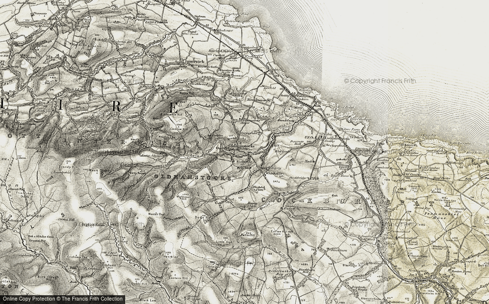 Old Map of Historic Map covering Aikengall in 1901-1903