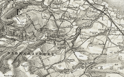 Old map of Woollands in 1901-1903