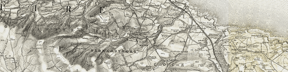 Old map of Wightman Hill in 1901-1903