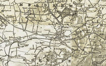 Old map of Philipstown in 1909-1910